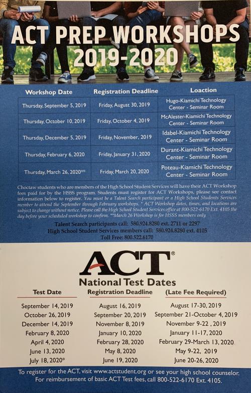 ACT Prep Classes Schedule
