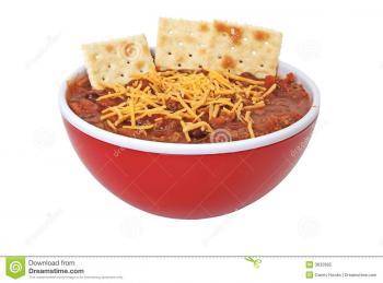 Bowl of beans and chili.