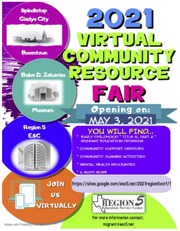 Region 5 Virtual Community Resource Fair