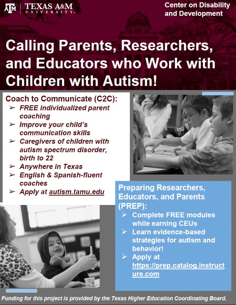 Parent Autism Training from Texas A&M University