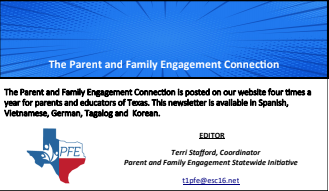 TEA Parent and Family Engagement Connection