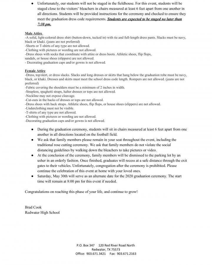 RHS 2020 Graduation Plan 2