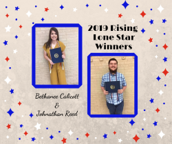 Thumbnail Image for Article Bethanee Calicott and Johnathan Reed Selected as 2019 Rising Lone Star Winners