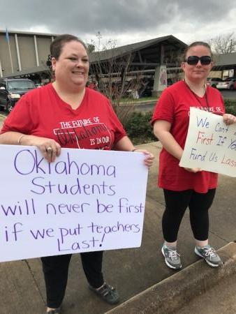 Teacher Walk-Out at Civic Center