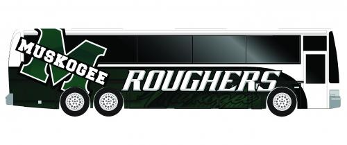 Muskogee Rougher Charter Bus Graphic