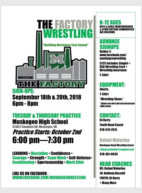 The Factory Wrestling flyer