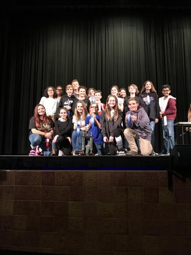 Junior High One Act Play Cast and Crew