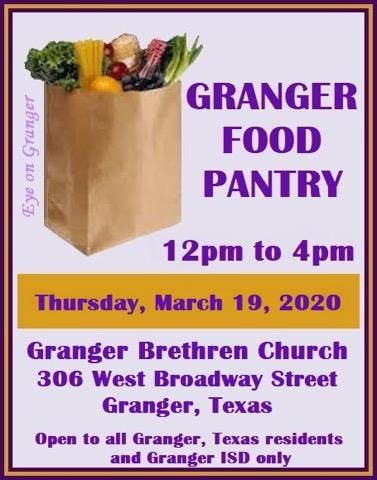 Granger Food Pantry Special Thursday Hours