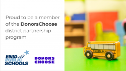 Enid Public Schools and National nonprofit DonorsChoose Announce New Partnership