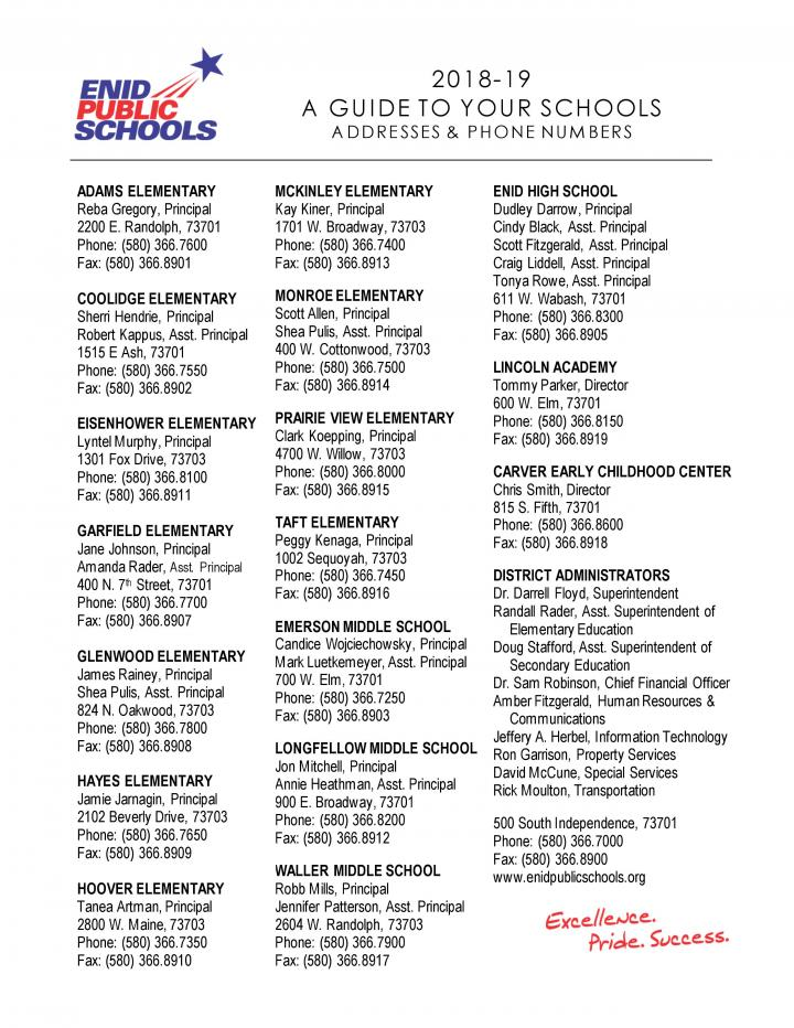 2018-19 guide to your schools