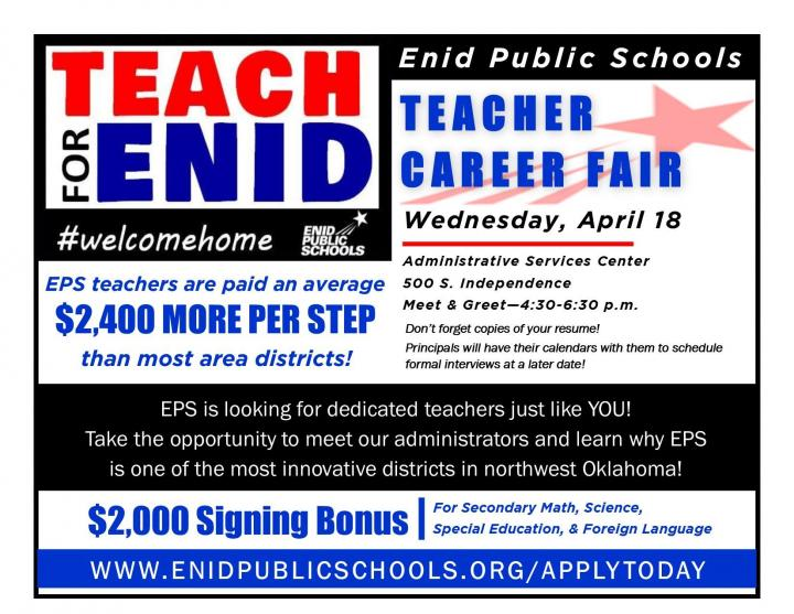 Enid Public School Teacher Career Fair