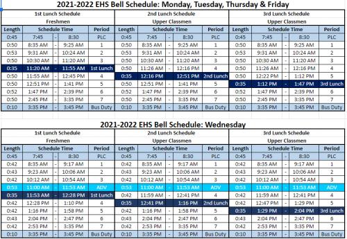 21-22 bell schedule