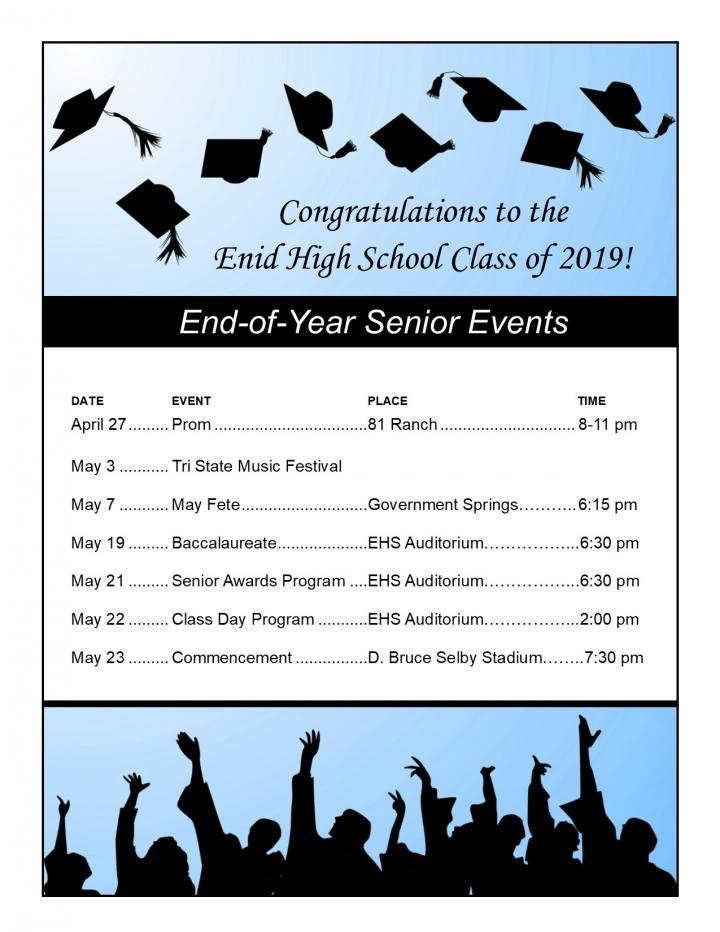 2019 senior dates