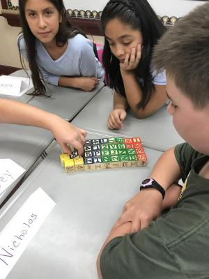 Building anything with blocks while working together.