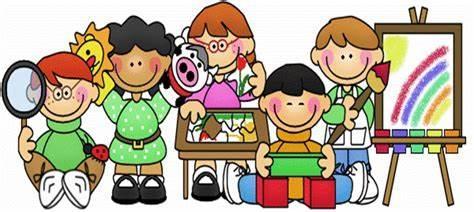 cartoon children in a classroom