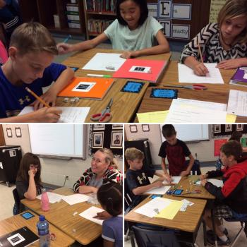 5th Graders explore decimal place value with decimals.