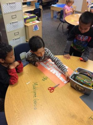 Ordering numbers and counting out that many pumpkins!