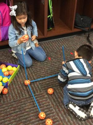 Building 3D shapes is fun in math centers!