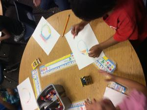 We made art like Vashti in our story The Dot.