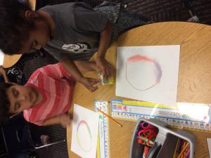 We made art like Vashti in our story The Dot.
