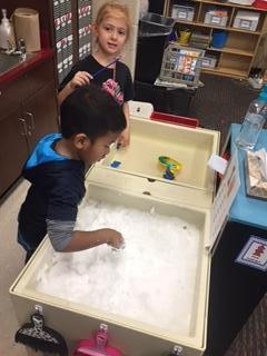 Writing sight words in shaving cream is such messy fun!