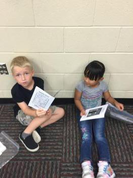 Khance and Emmijen practicing their reading!