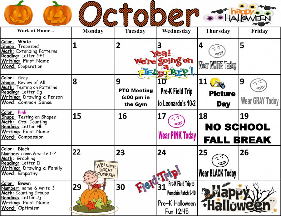 McKinley Elementary School - Monthly Calendar