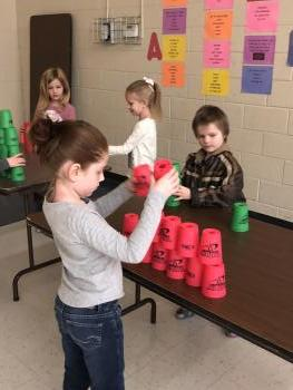CUP STACKING!