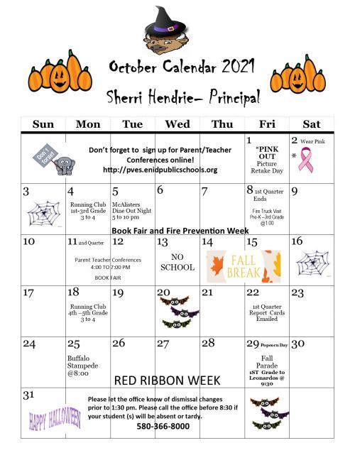 PV October Calendar