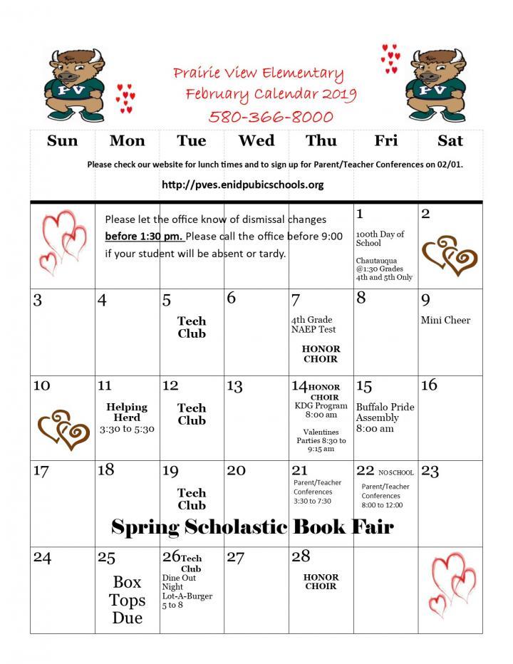 PV February Calendar