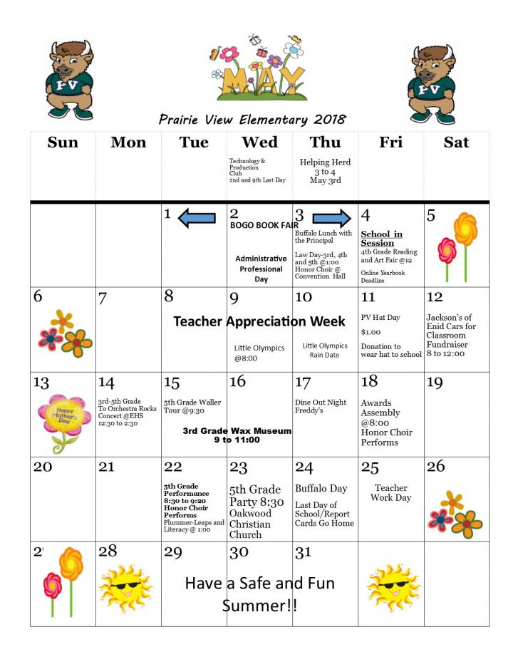 May Calendar