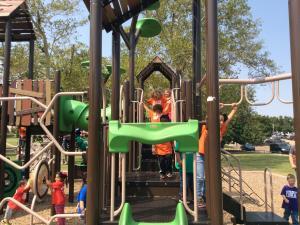 Fun at the park.