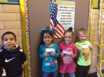 Students who can say the Pledge of Allegiance