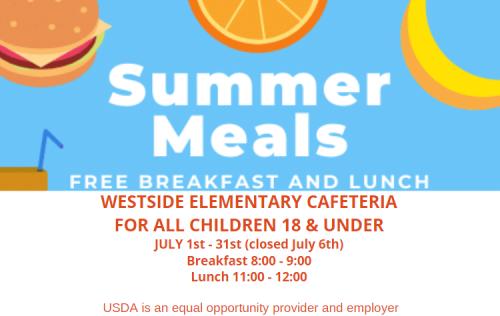 Summer Meal Program for July