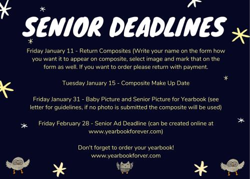 Senior Deadlines