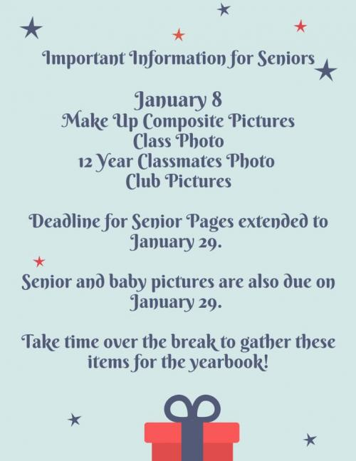 Dates to remember for Seniors 2021