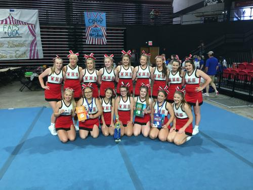 1st Place Small Squad Cheer at UCA Camp