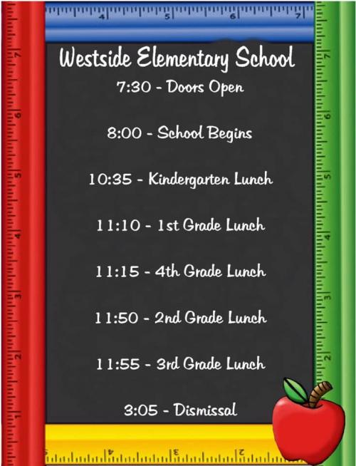 WES Lunch Times