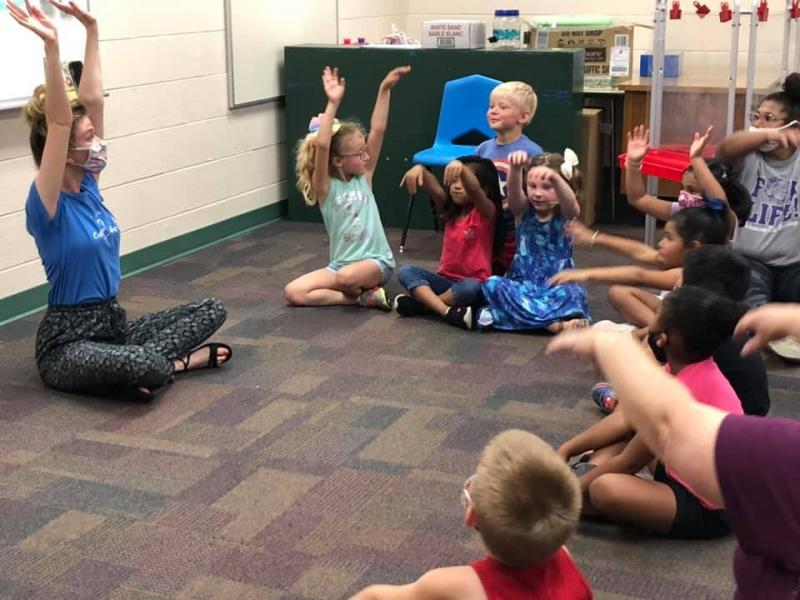 Ark City PreK students participate in Nitty Gritty Theatre