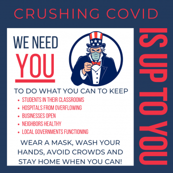 Crushing COVID - It's up to YOU!