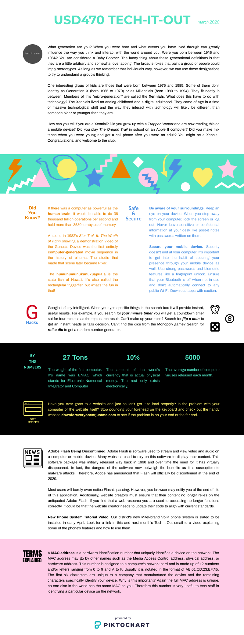 March 2020 Tech-It-Out Infographic