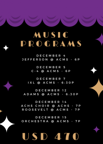 list of December 2017 music programs