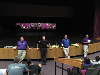 ACPD talks to ACHS staff