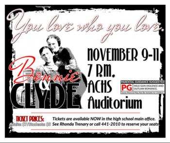 ACHS presents Bonnie and Clyde the Musical