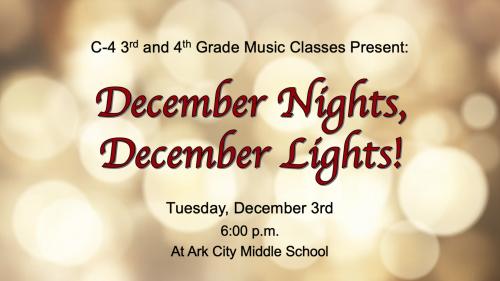 December Nights Music Program Invitation