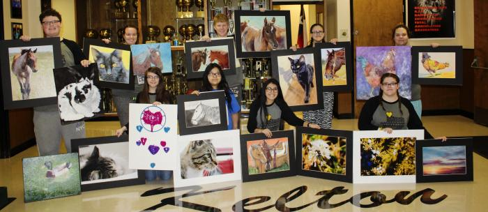 Students and Artwork Attending VASE 2018