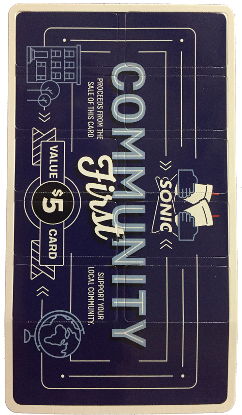 Sonic Community Card Front
