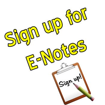 Sign up for E-Notes Graphic