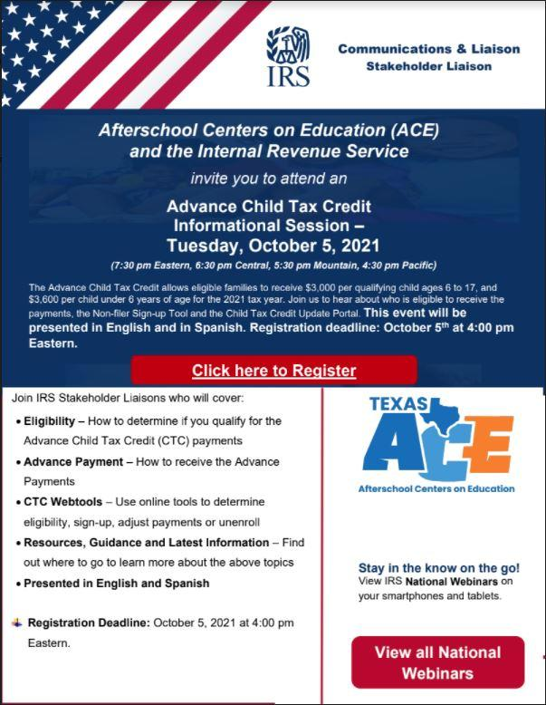 Advance Child Tax Credit Informational Session