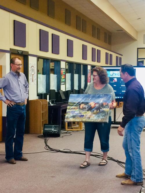 Two Longtime Board Members Honored